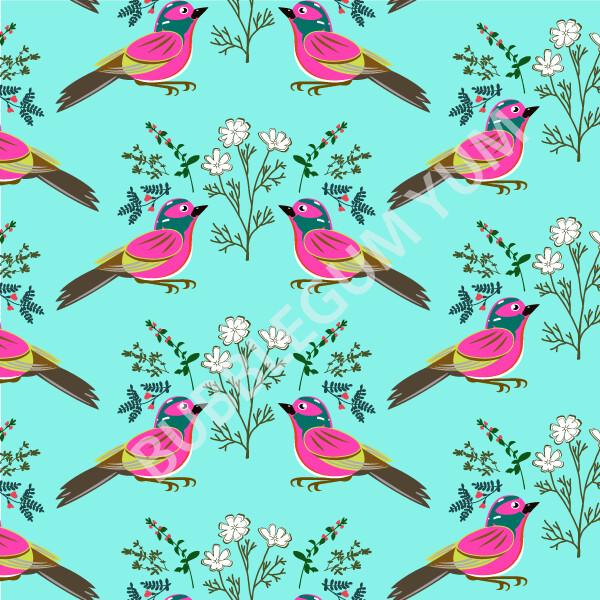 Decoupage Artisan Print - Little Birdie Says (Teal)