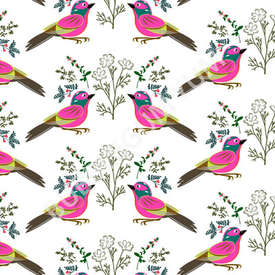 Decoupage Artisan Print - Little Birdie Says (White)
