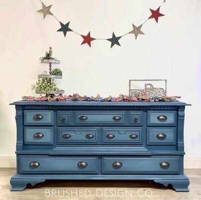 Denim Blue Dresser