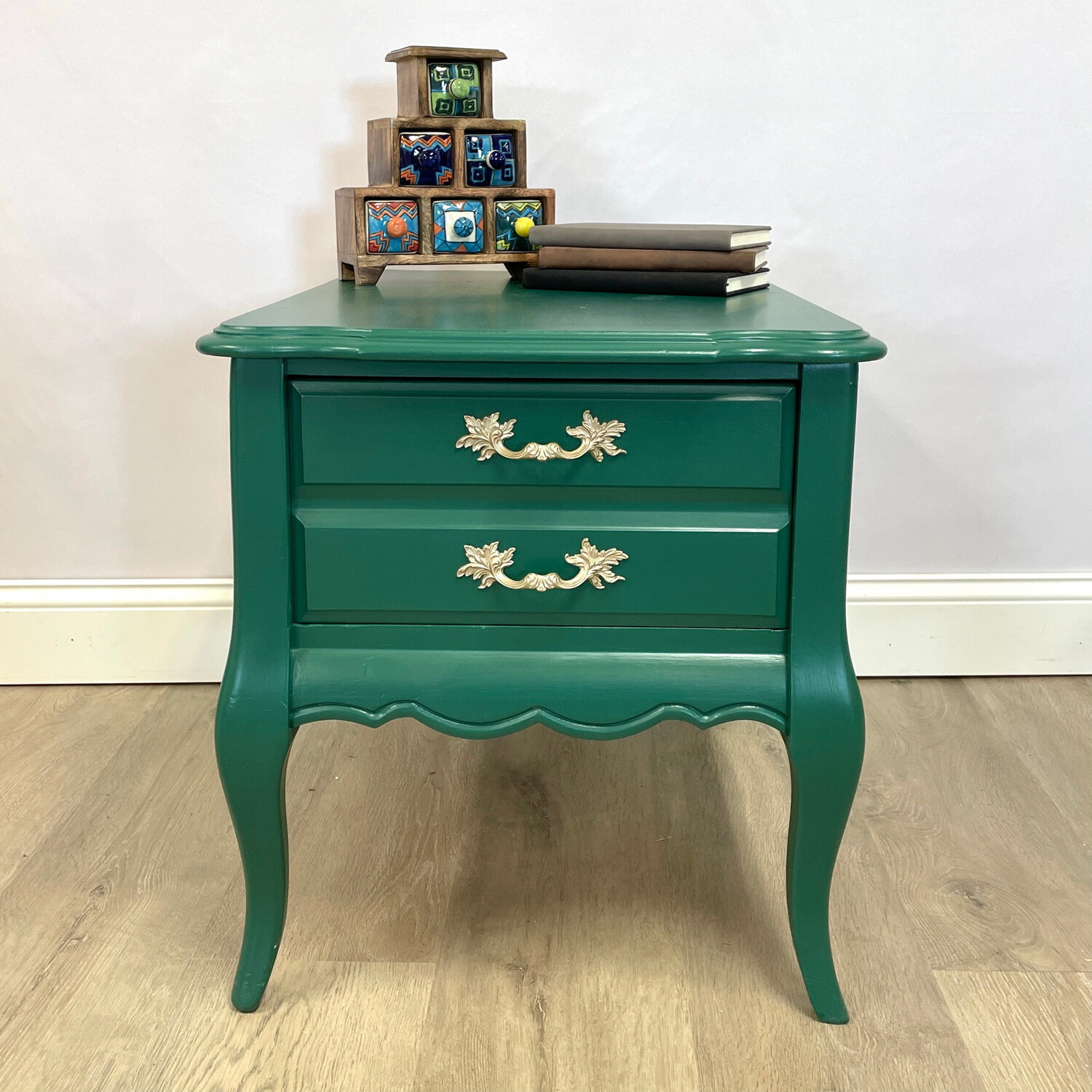 Emerald French Provincial Night Stand