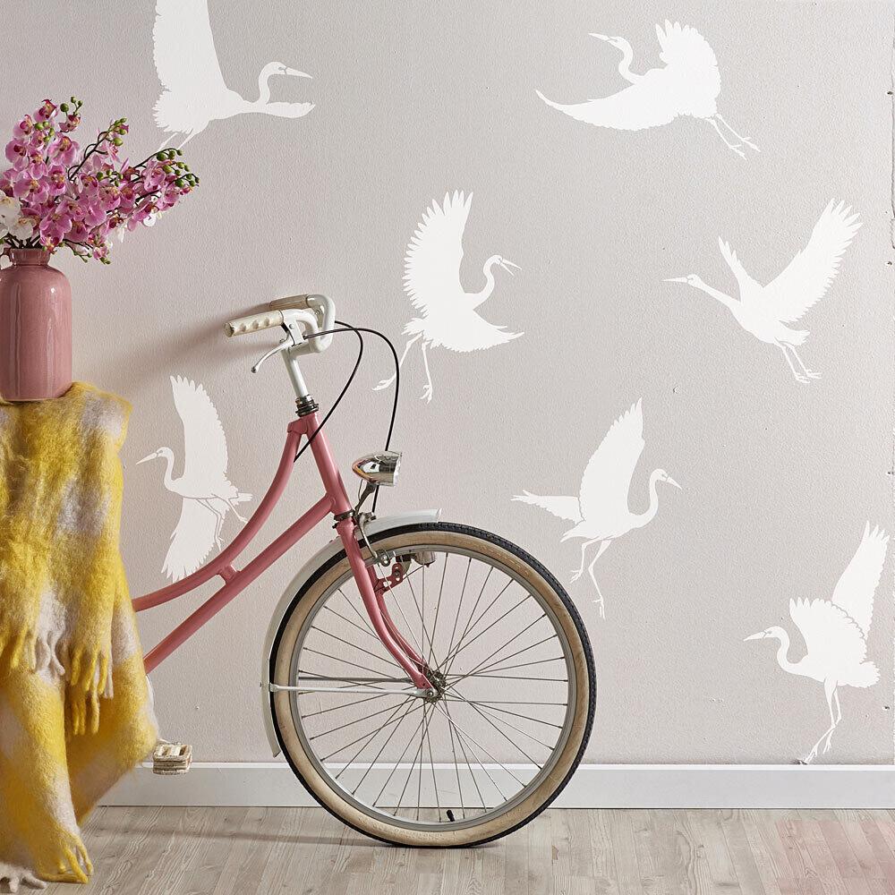 Dancing Egrets Stencil
