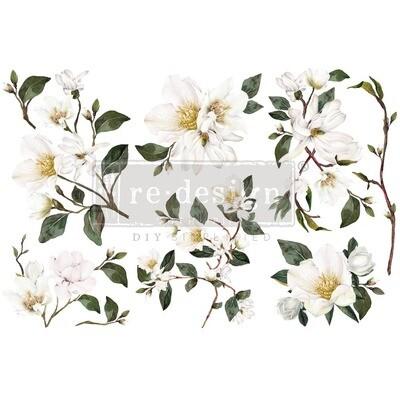 Small Decor Transfer - White Magnolia