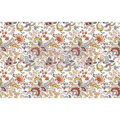Decoupage Décor Tissue Paper - Tangerine Spring