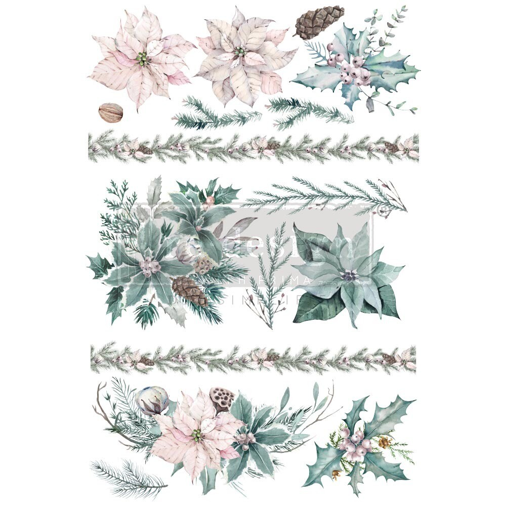 Décor Transfer - Evergreen Florals