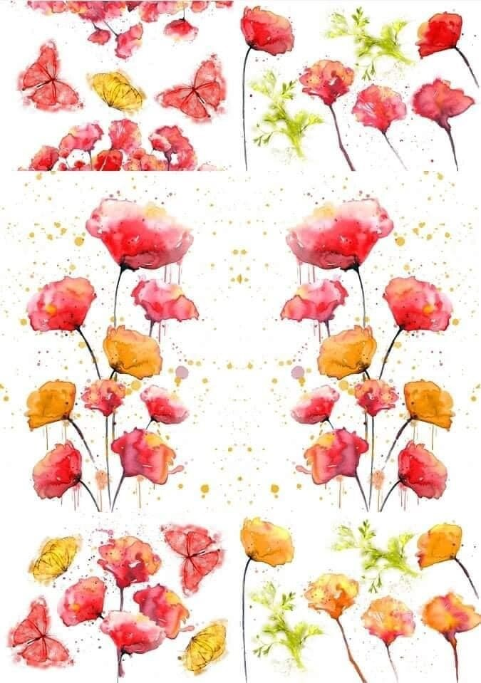 Décor Transfer: Peaceful Poppies