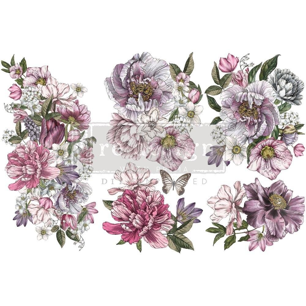 Small Decor Transfer - Dreamy Florals