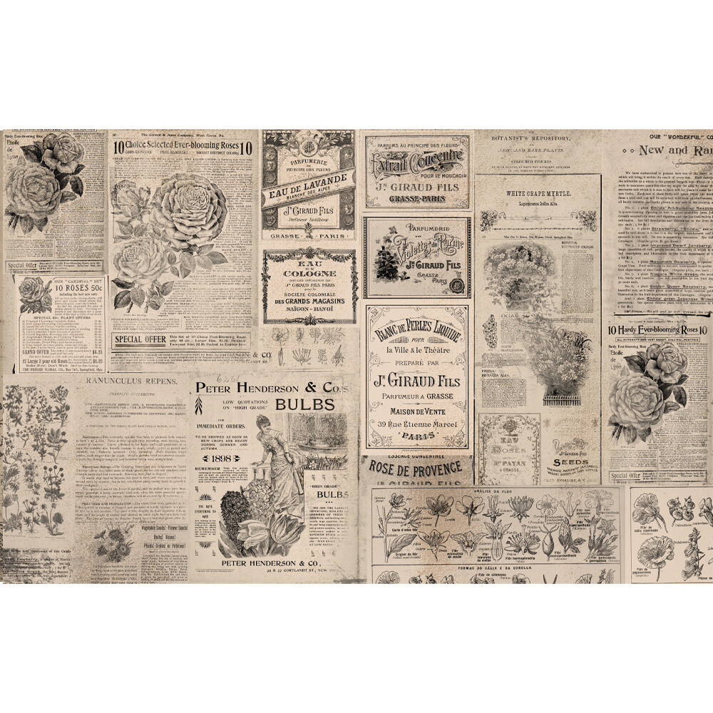 Decoupage Décor Tissue Paper - Newsprint