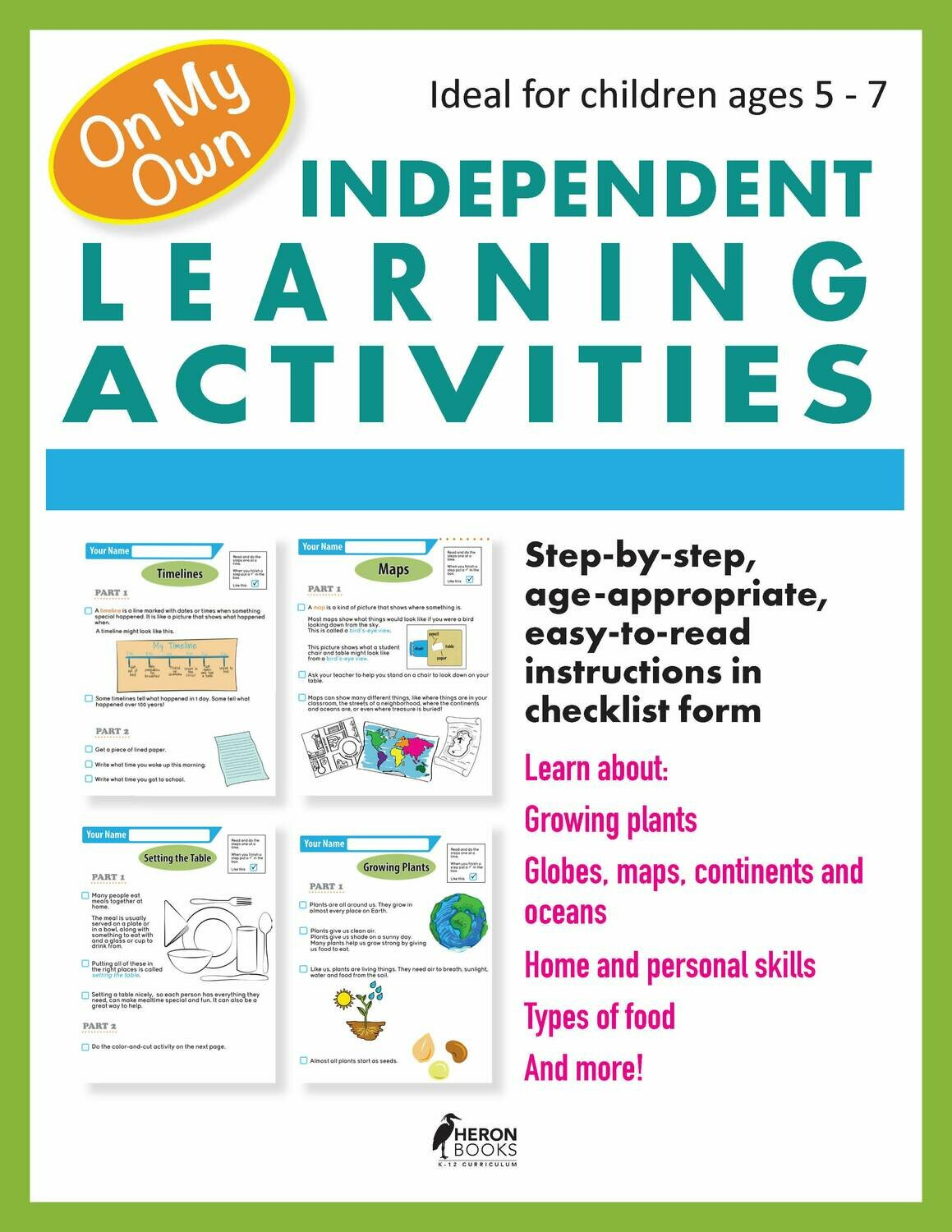 Independent Learning Activities - Free Download!