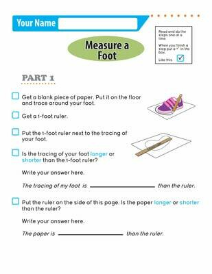 Independent Learning Activity - Measure a Foot