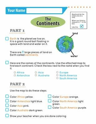 Independent Learning Activity - The Continents
