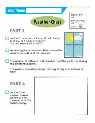 Independent Learning Activity - Weather Chart