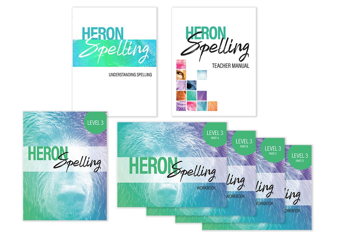 Heron Spelling Starter Package - Level 3 (Grade 6)