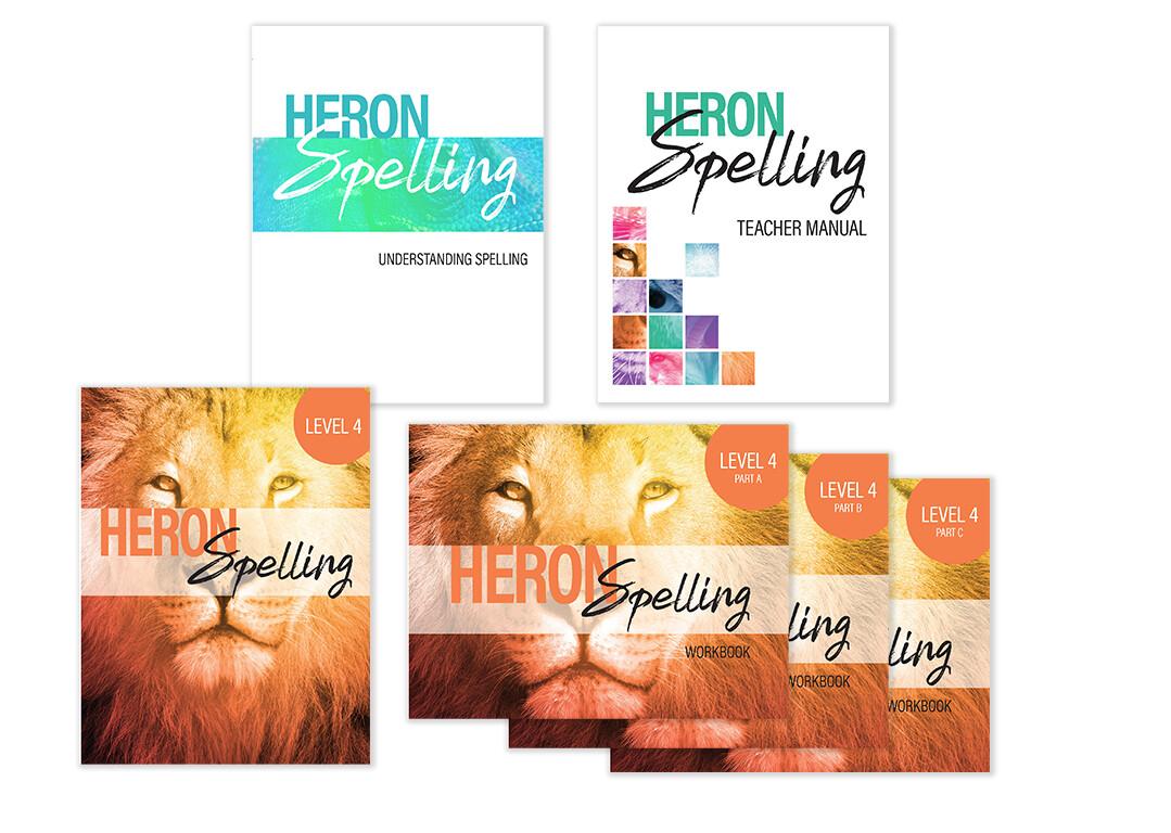 Heron Spelling Starter Package - Level 4 (Grade 7)