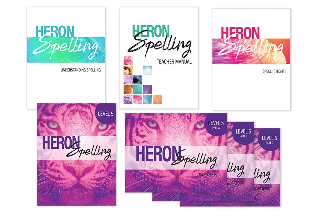 Heron Spelling Starter Package - Level 5 (Grade 8)