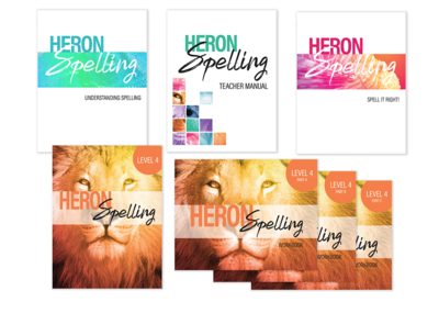Heron Spelling Starter Package - Level 4 (Grade 7)