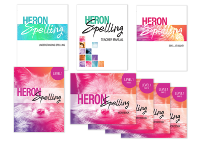 Heron Spelling Starter Package - Level 1 (Grade 4)