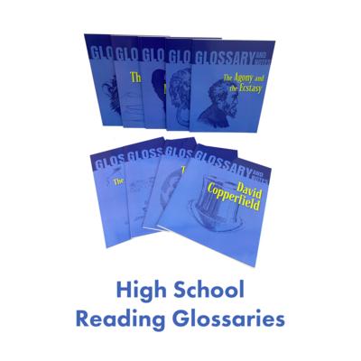 High School Reading Glossaries Homeschool Package