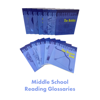 Middle School Reading Glossaries Homeschool Package