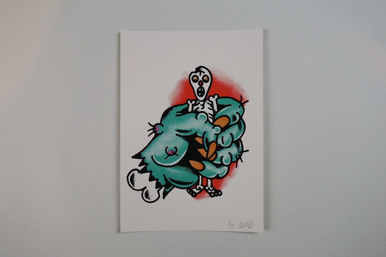 """""""Hand of death"""" Silkscreen print"""
