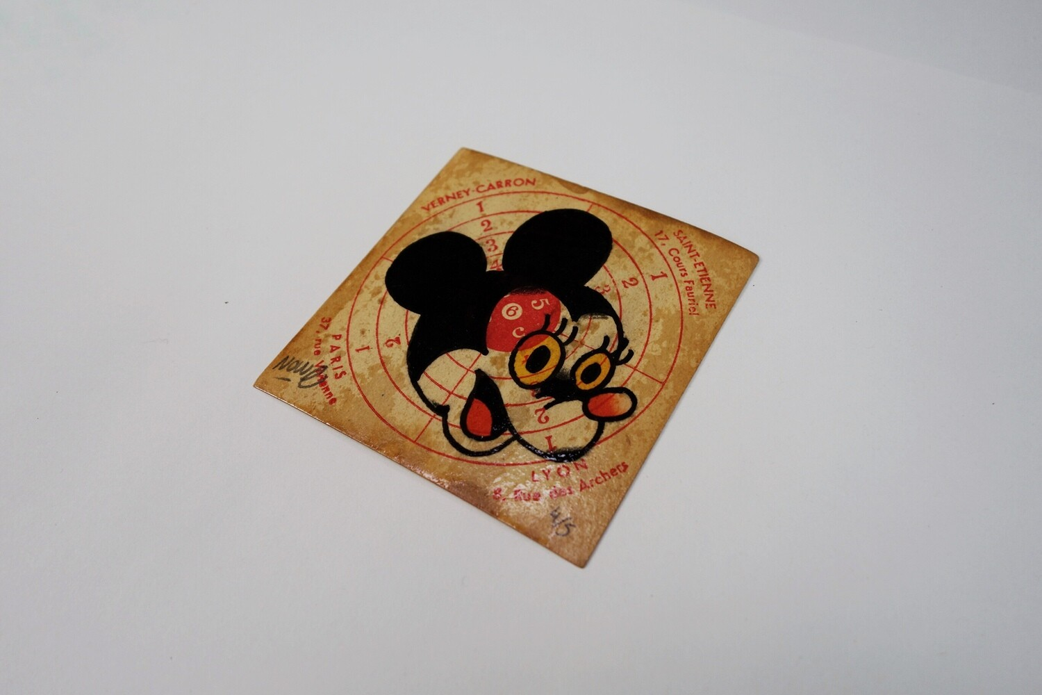 """Minnie"" Original drawing on old target"