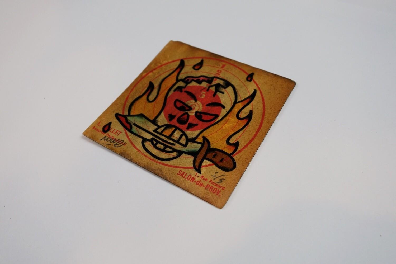 """Skull"" Original drawing on old target"