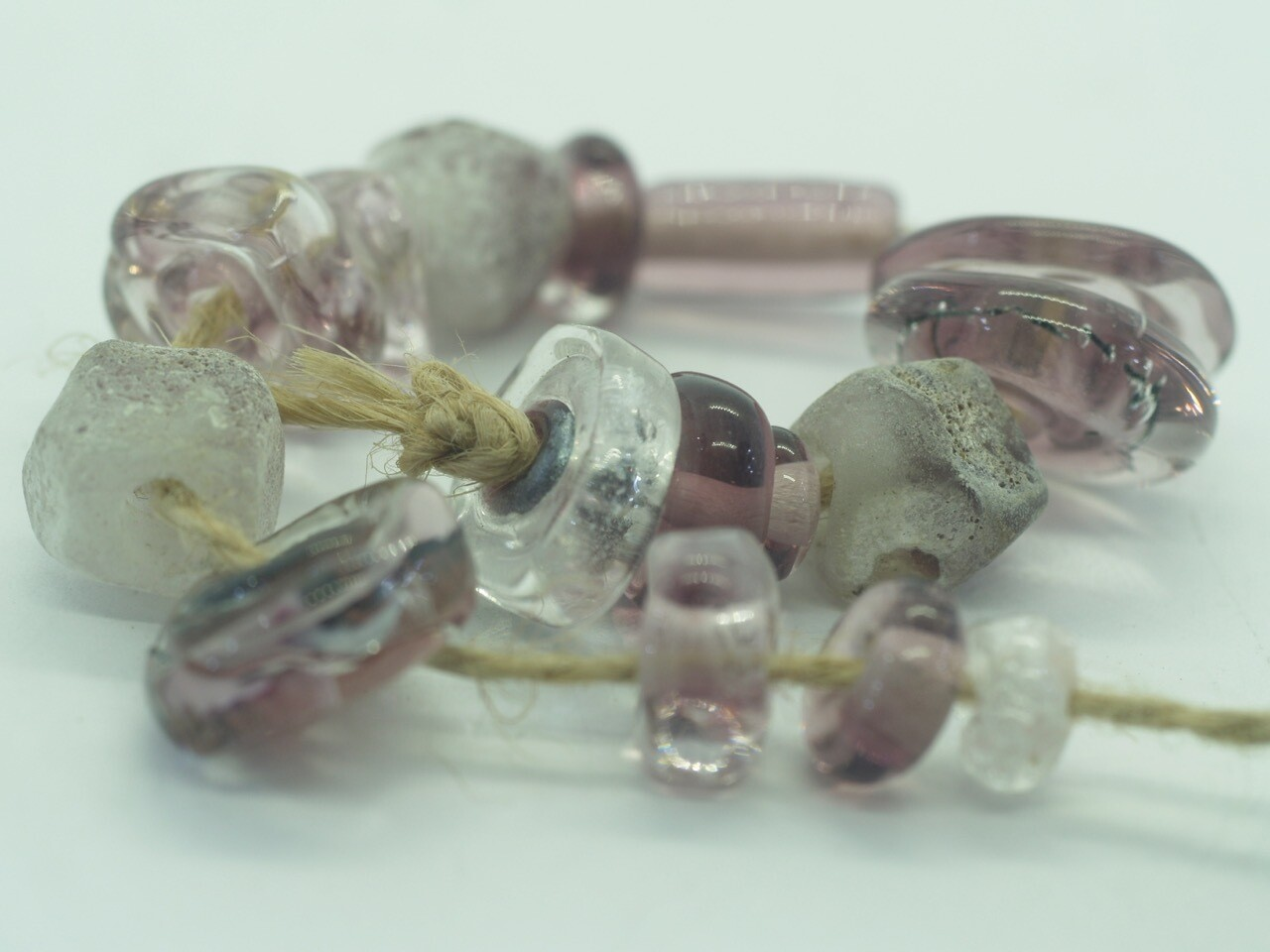 emubeads lampwork amethyst glass beads for making jewellery