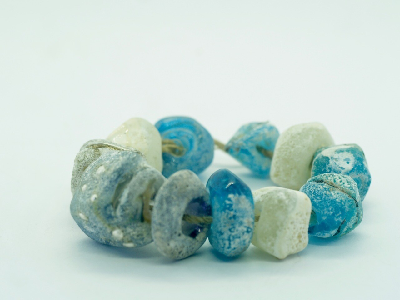 emubeads handmade sea-spray blues for jewellery making