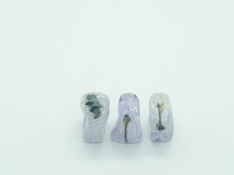 handmade lilac seawash square emubeads for jewellery making