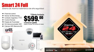 Sistema de alarma inalámbrico Smart24 Full