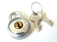 Schloss für Werkzeugtasche inkl. zwei Schlüssel
