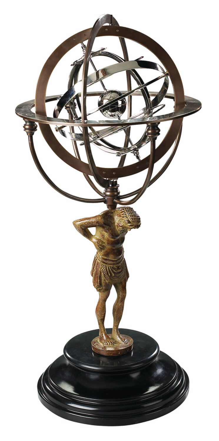 18TH C. ATLAS ARMILLARY