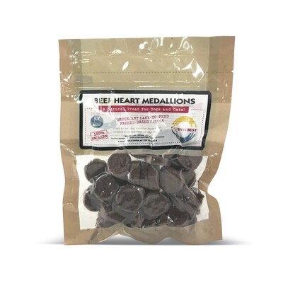 Freeze Dried Beef Heart Medallions - 4 oz.