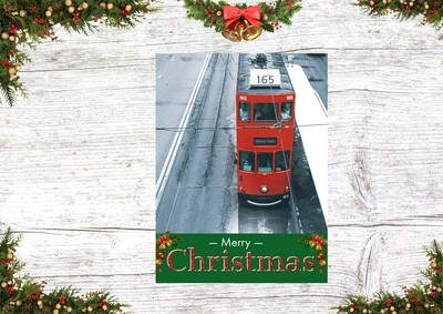 Christmas Card 3 ( A Red Tram in the cold)