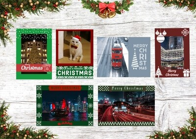 HK Christmas Card Collection (A pack of 6 blank greeting cards)