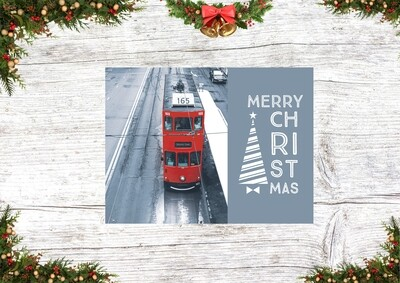 HK Christmas Card 3 ( A Red Tram in the cold)