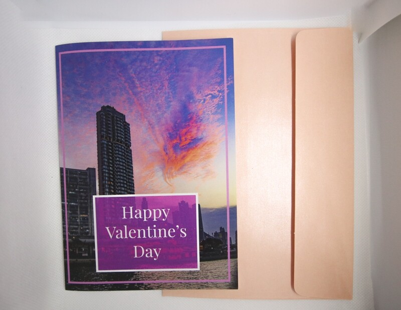 Valentines Day Card ( A Heart Shaped Cloud Over The City)