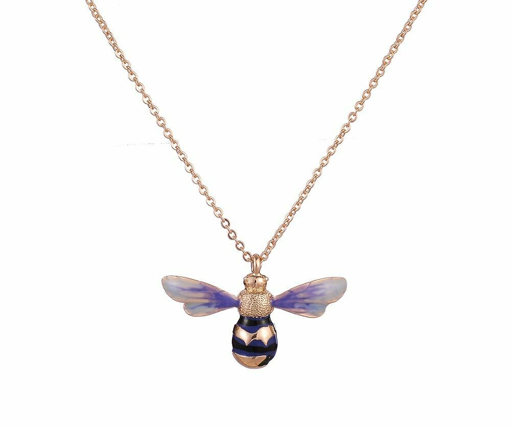 FABLE Enamelled Long Bee Necklace