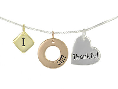 Silver & Plated I Am Thankful Necklet