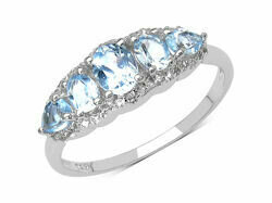 Silver & Topaz Ring