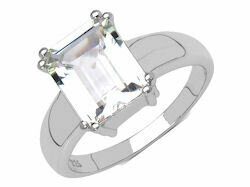 Silver & White Topaz Ring