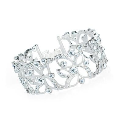 Silver colour crystal bracelet