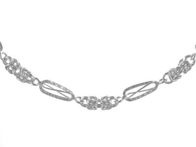 Silver Handmade Bracelet 7.5
