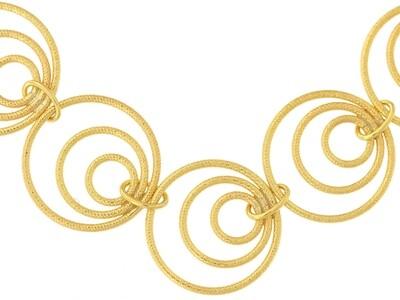 9ct Gold Handmade Bracelet 7.5