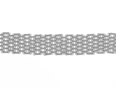 Silver 6 Brick Bracelet 7.5