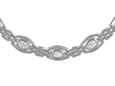 Silver Handmade Gate Bracelet, 7.5