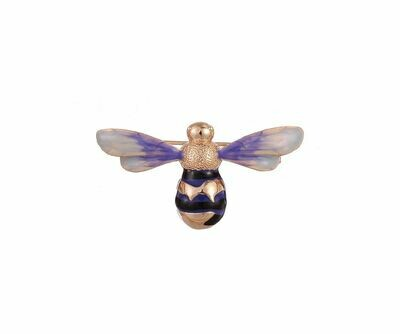 FABLE Enamelled Bee Brooch