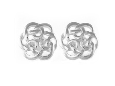 Silver 5.5mm Celtic Stud Earrings