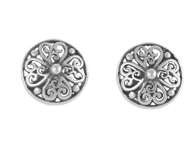 Silver Antique Stud Earrings