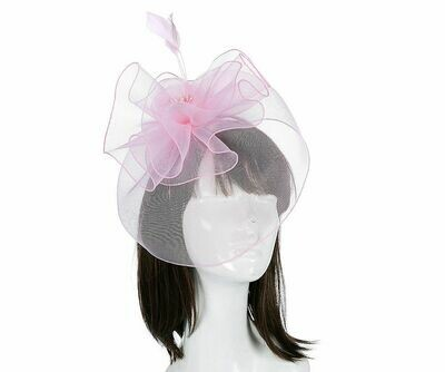Pink large floral fascinator headband
