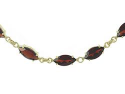 9ct Gold Garnet Bracelet 7.5